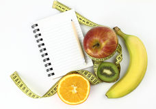 Libro di dieta immagini stock