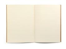 Libro di esercitazione allineato Fotografie Stock