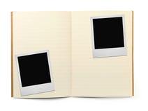 Libro di esercitazione e due blocchi per grafici della foto Immagine Stock Libera da Diritti