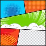 Libro di fumetti Immagini Stock
