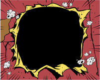 Libro di fumetti - foro Fotografie Stock Libere da Diritti