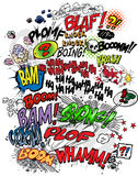 Libro di fumetti - parole Fotografie Stock