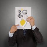 libro di GRANDI DATI come concetto Fotografie Stock