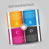 Libro di Infographic Fotografie Stock Libere da Diritti