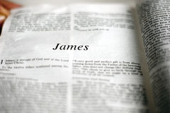 Libro di James Fotografie Stock Libere da Diritti
