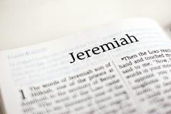 Libro di Jeremiah Fotografia Stock
