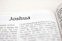 Libro di Joshua Fotografia Stock Libera da Diritti