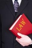 Libro di legge della holding dell'avvocato Immagini Stock Libere da Diritti