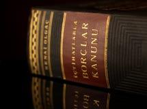 Libro di legge turco Fotografie Stock