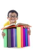 Libro di lettura astuto del ragazzo Immagine Stock Libera da Diritti