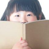 Libro di lettura del bambino Fotografia Stock Libera da Diritti