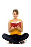 Libro di lettura della donna Immagine Stock Libera da Diritti