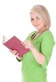 Libro di lettura della giovane donna Fotografia Stock