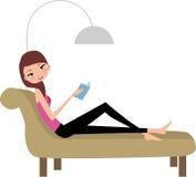 Libro di lettura della ragazza illustrazione vettoriale