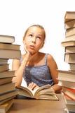Libro di lettura della ragazza Fotografia Stock