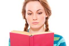 Libro di lettura grazioso della donna Immagine Stock Libera da Diritti