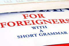 Libro di linguaggio Immagine Stock