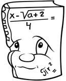 Libro di matematica Fotografia Stock Libera da Diritti