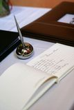 Libro di ospite di cerimonia nuziale Fotografie Stock Libere da Diritti