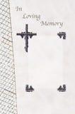 Libro di ospite funereo immagine stock
