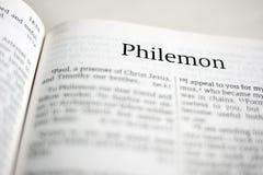 Libro di Philemon Immagini Stock Libere da Diritti