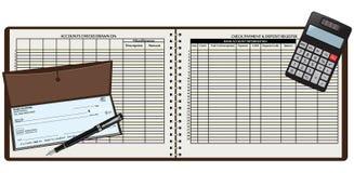 Libro di registrazione Fotografia Stock