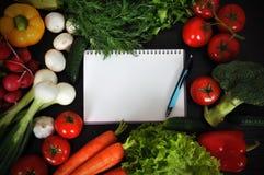 Libro di ricetta Immagine Stock