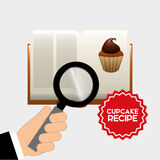 Libro di ricetta del bigné Immagini Stock Libere da Diritti