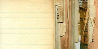 Libro di ricetta dell'annata Immagini Stock Libere da Diritti