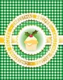 Libro di ricetta di natale, verde Fotografia Stock