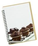 Libro di ricetta per il dessert Fotografie Stock Libere da Diritti
