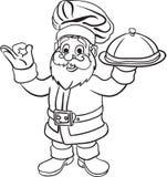 Libro di Santa Chef Coloring illustrazione di stock