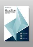 Libro, diario, diseño A4 de la cubierta del informe Vector Imagenes de archivo