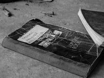 Libro duplicado abandonado de la orden - con fecha de 1990 Fotografía de archivo libre de regalías