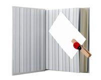 Libro e biglietto da visita Fotografia Stock