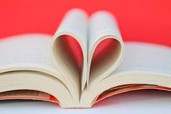 Libro e cuore Fotografie Stock
