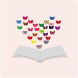 Libro e farfalle Immagini Stock