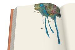 Libro e foresta Fotografia Stock