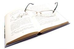 Libro e glases Immagine Stock Libera da Diritti