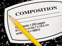 Libro e matita della composizione Immagine Stock Libera da Diritti