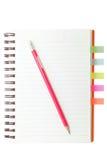 Libro e matita di indice analitico Fotografie Stock Libere da Diritti