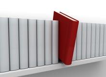 Libro e mensola di individualità. Immagine Stock
