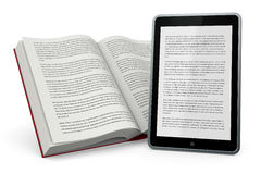 Libro e nuove tecnologie Stock Photography