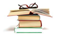 Libro e vetri. Fotografia Stock