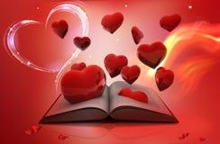 Libro ed amore Fotografie Stock