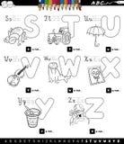 Libro educativo del color del sistema del alfabeto de la historieta libre illustration
