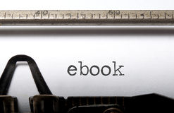 Libro elettronico fotografie stock libere da diritti