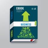 Libro elettronico del modello di progettazione di affari della copertina di libro Fotografie Stock Libere da Diritti