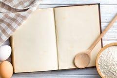 Libro en blanco de la receta Imagenes de archivo