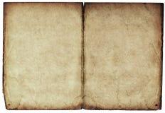Libro en blanco viejo abierto en ambas paginaciones. Foto de archivo libre de regalías